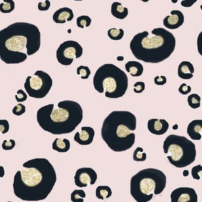 baby leopard gold glitter light blush pale pink baby girl