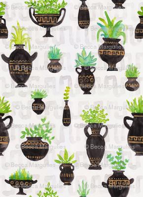 Greek Vase Greenery