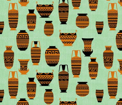 Greek Etruscan Pots fabric by ruthnijsten on Spoonflower - custom fabric