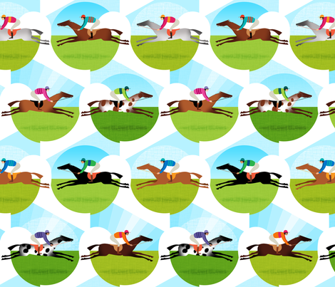 Race Day fabric by spellstone on Spoonflower - custom fabric