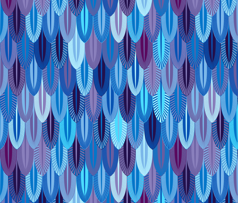 Blue fabric by spellstone on Spoonflower - custom fabric