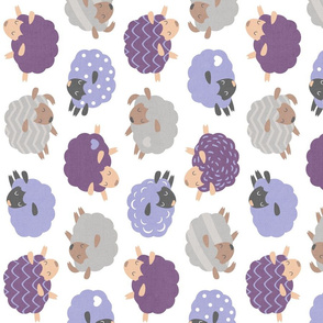 Sleepy Sheep Lavender Rotated