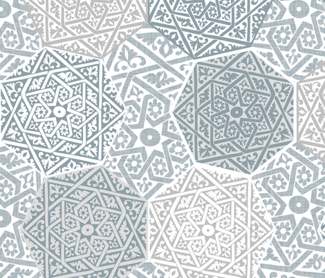 Silver Souk fabric by spellstone on Spoonflower - custom fabric