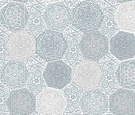 Small Silver Souk fabric by spellstone on Spoonflower - custom fabric