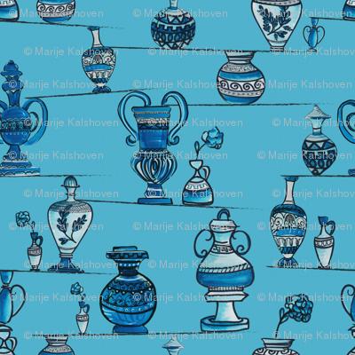 Greek pottery in balance