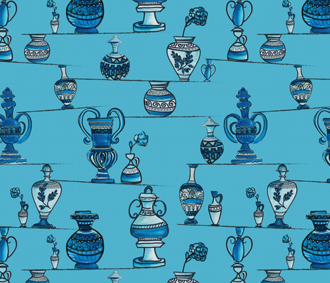 Greek pottery in balance fabric by blijmaker on Spoonflower - custom fabric