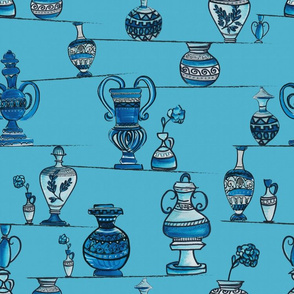 Greek pottery in balance