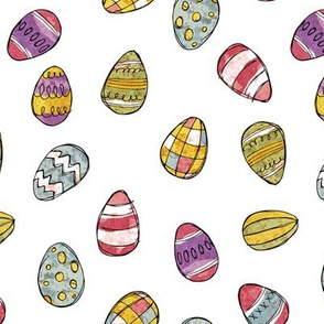 Easter Eggs - coloured