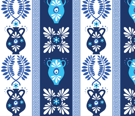 Greek Art fabric by inkytinc on Spoonflower - custom fabric