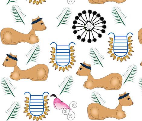 Greek Kitties fabric by gracelillydesigns on Spoonflower - custom fabric