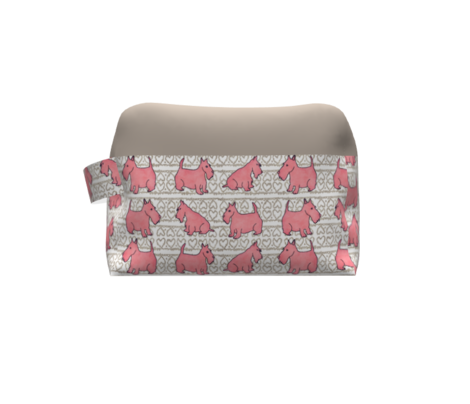 Pink Scottie Dogs and Hearts