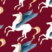 Pegasus on Red