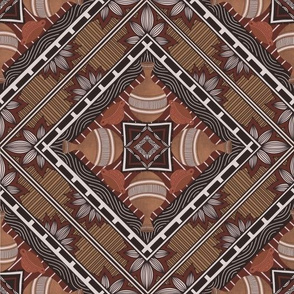 Greek art ornaments mosaic