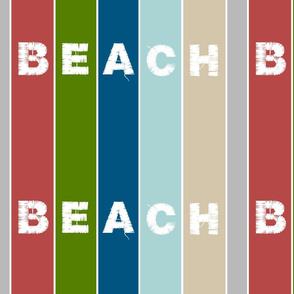 Beach Stripes 14 vertical -BEACH  lake