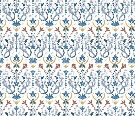 Minoan garden fabric by effiesdesign on Spoonflower - custom fabric