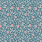 floral background with hearts