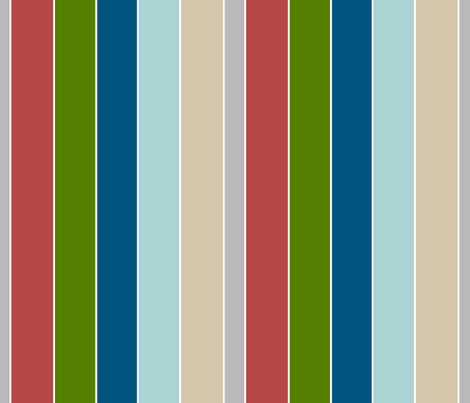 Beach Stripes105 vertical - lake fabric by drapestudio on Spoonflower - custom fabric