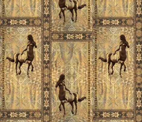 Greek centaur girl fabric by snarets on Spoonflower - custom fabric