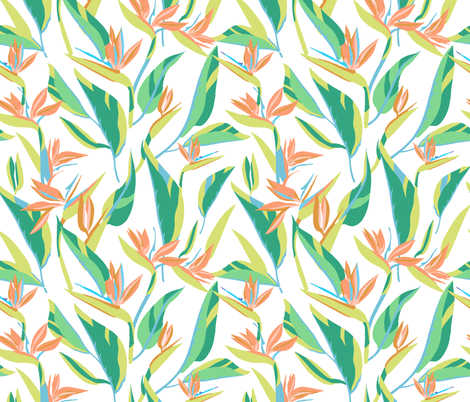 bird of paradise faded fabric by holli_zollinger on Spoonflower - custom fabric