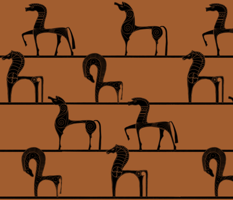 All the Greek Horses fabric by katielee on Spoonflower - custom fabric