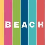 Beach stripes - 1951 BEACH Lagoon  tropics