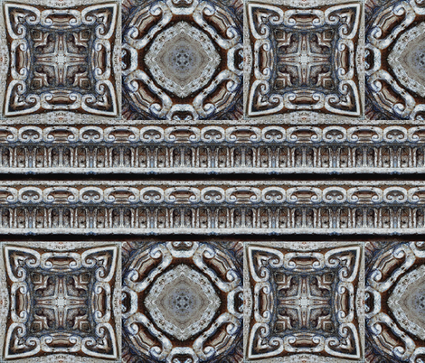 HELLENIC CARVED STONE FRIEZE AND TILES BAS RELIEF fabric by paysmage on Spoonflower - custom fabric
