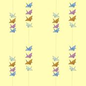 Yellow Peace Cranes