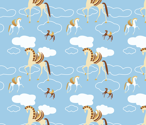 Pegasus fabric by songbirdesign on Spoonflower - custom fabric