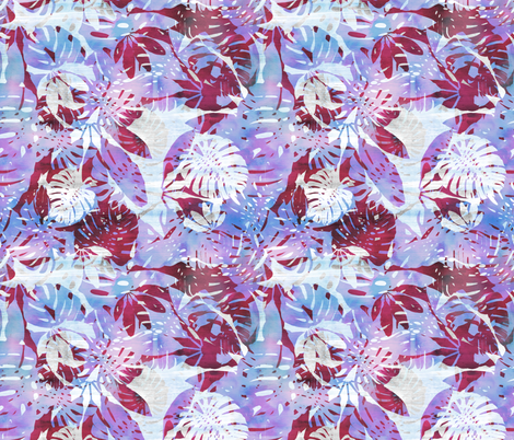 Motuu White and purple fabric by schatzibrown on Spoonflower - custom fabric