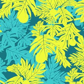 Hula 'Ulu Lime on Teal Jumbo 150