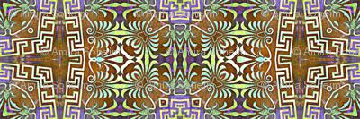 Greek key and floral pattern