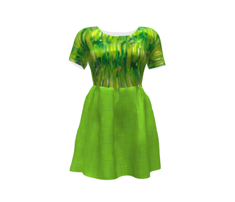 Millennial Moiré Checks  in Lime Green and Yellow