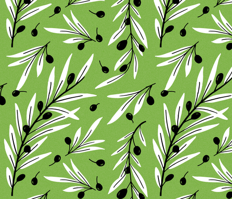 Greek Olives fabric by moodyrooster on Spoonflower - custom fabric