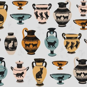 Ancient Greek Cat Pottery