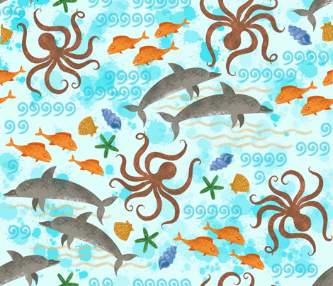 Agean Sea fabric by pepper_pie on Spoonflower - custom fabric