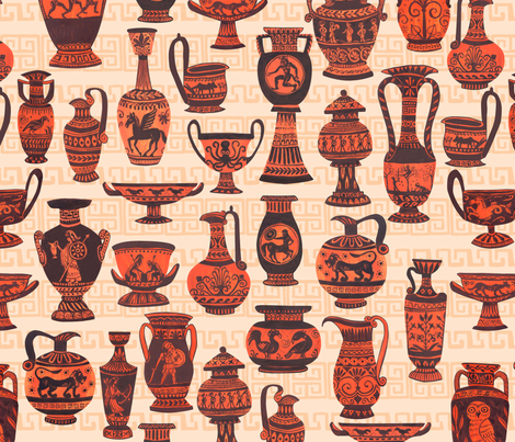 Greek Vases fabric by artfully_minded on Spoonflower - custom fabric