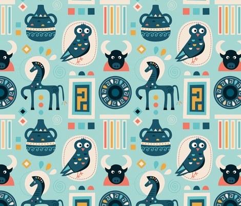 Zephir fabric by la_fabriken on Spoonflower - custom fabric