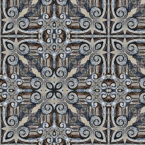 CARVED STONE TILE greek celtic 1 tracery