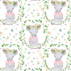"""4"""" Lila the Mouse / Blush Pink"""