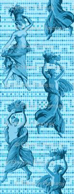 Greek Harvest  Maidens on Tiles