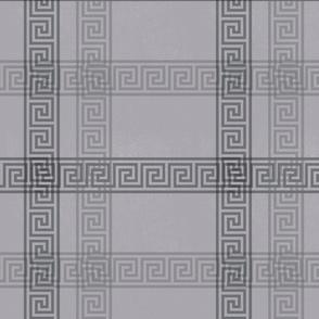 Greek Key Plaid - Stone