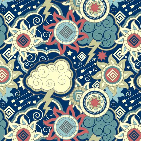 Zeus & Apollo fabric by sarah_treu on Spoonflower - custom fabric