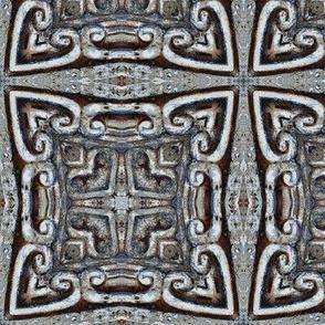 CARVED STONE TILE greek celtic 6