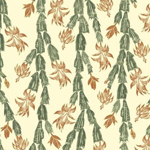 Christmas cactus - antique red and green
