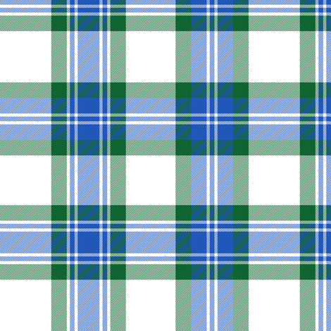 Fraser arisaid - green and true blue fabric by weavingmajor on Spoonflower - custom fabric