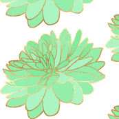 Mint and Gold Flower