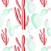 Preppy Cacti  // pink and green