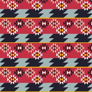 Kilim Stripes-Red