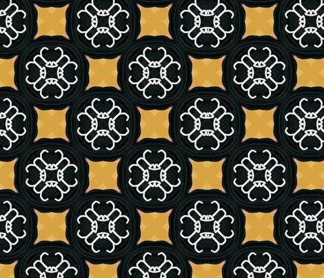 Buckle in Gold and Black fabric by lisabridenbaker on Spoonflower - custom fabric