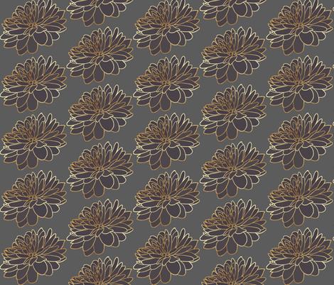 Grey Aubergine Floral Print fabric by sew_delightful on Spoonflower - custom fabric